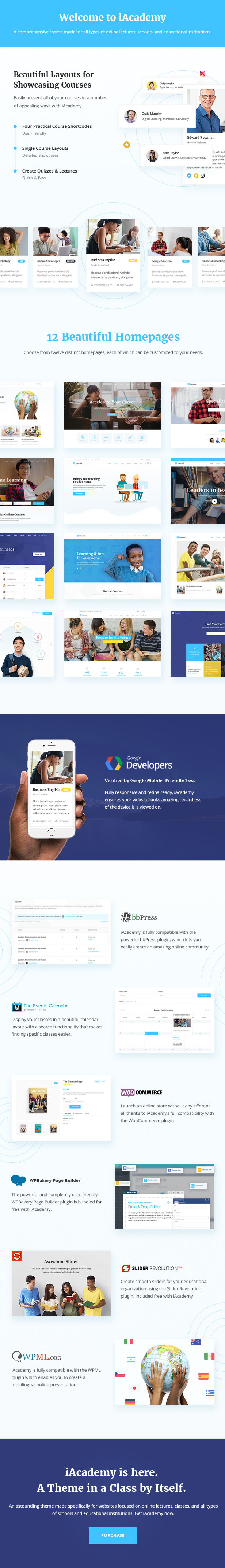 iAcademy - Education Theme for Online Learning - 1